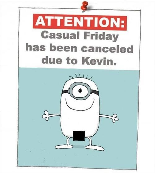 despicable me minion casual friday poorly dressed g rated - 7654421504