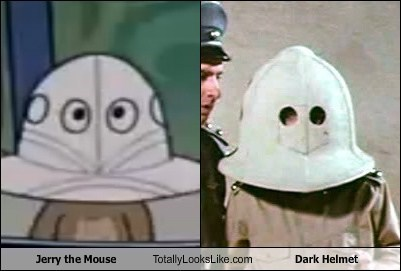 Tom and Jerry,Jerry,spaceballs,totally looks like,funny,dark helmet