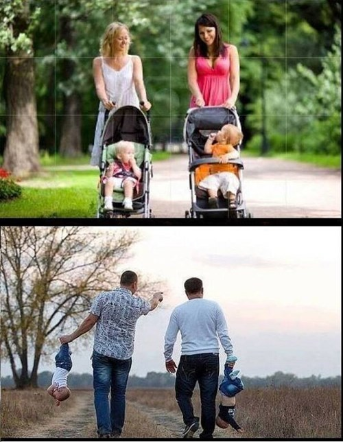 Babies dads moms moms vs dads funny strollers g rated parenting - 7654588928