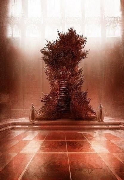 art Game of Thrones George RR Martin iron throne