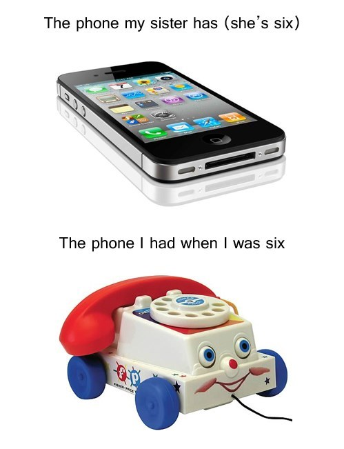 when i was a kid,kids with iphones,iPhones,when I was your age,funny