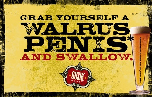beer,no no tubes,ads,walrus,funny