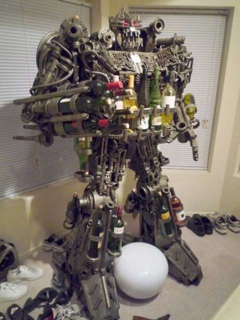 robot wine funny bottles after 12 g rated - 7655198720