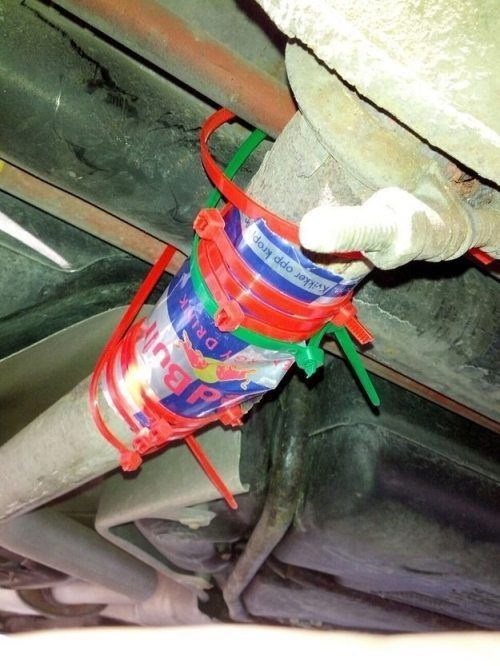 zip ties,red bull,cars,funny