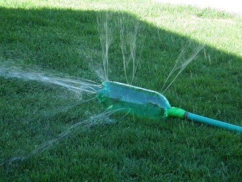 summer,soda bottles,sprinklers,funny