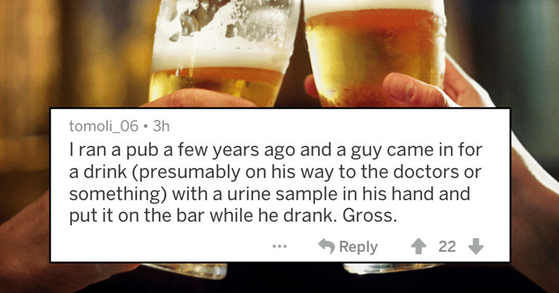 Crazy stories from bartenders of reddit.