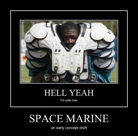 space marine football funny