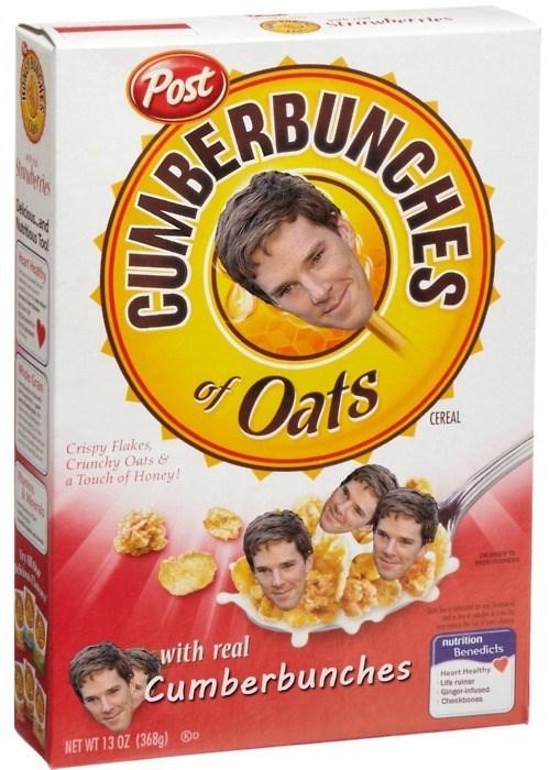benedict cumberbatch,funny,cereal
