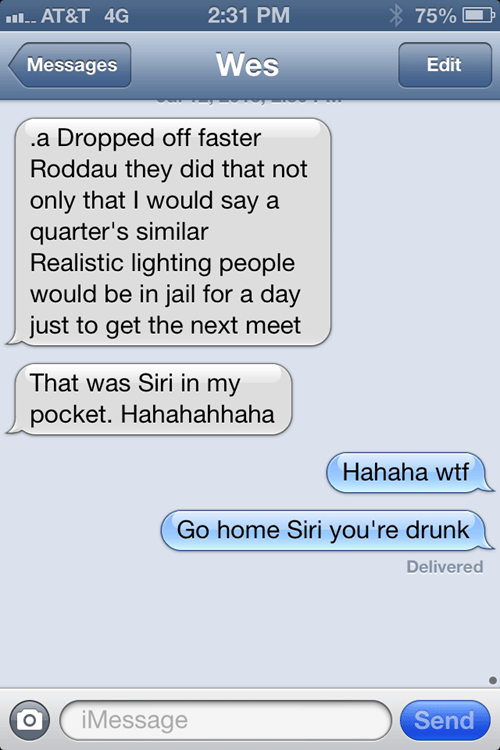 pocket dialed iPhones siri pocket texting funny g rated AutocoWrecks