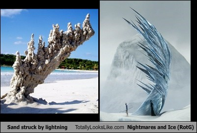 Sand struck by lightning Totally Looks Like Nightmares and Ice (RotG)