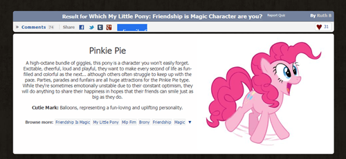 I got my favorite pony on the quiz!!
