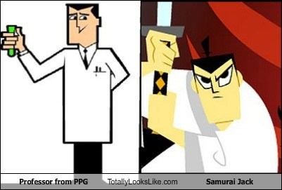 power puff girls,professor,totally looks like,funny,samurai jack