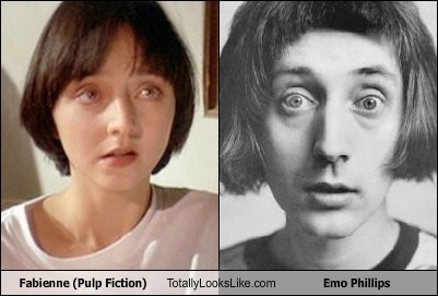 fabienne,emo phillips,pulp fiction,totally looks like,funny