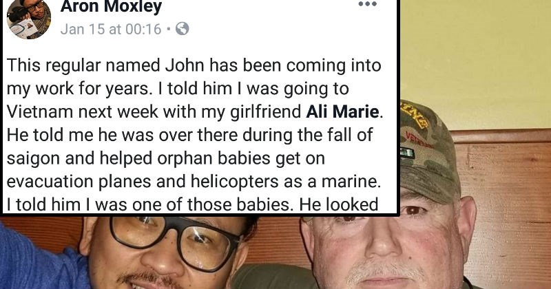 wholesome baby veterans heartwarming interesting connection facebook Vietnam service coincidence - 7657221