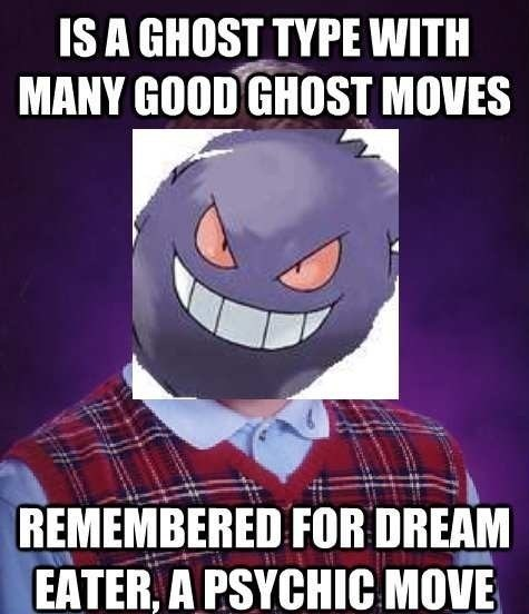 gengar bad luck brian ghosts - 7657282816