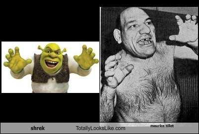 maurice tillet,totally looks like,shrek,funny