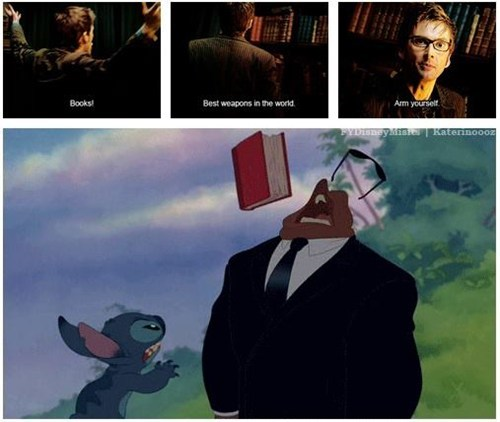 doctor who,books,lilo and stitch,tenth doctor