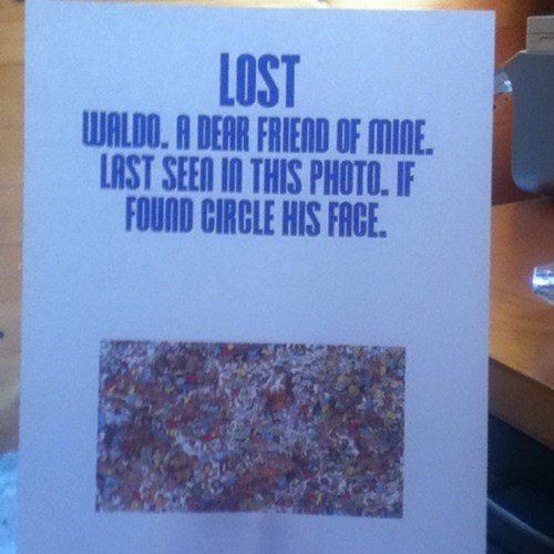 Lost Sign wheres waldo waldo - 7657683712