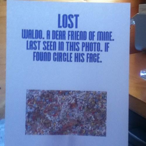 Lost Sign wheres waldo waldo - 7657683712