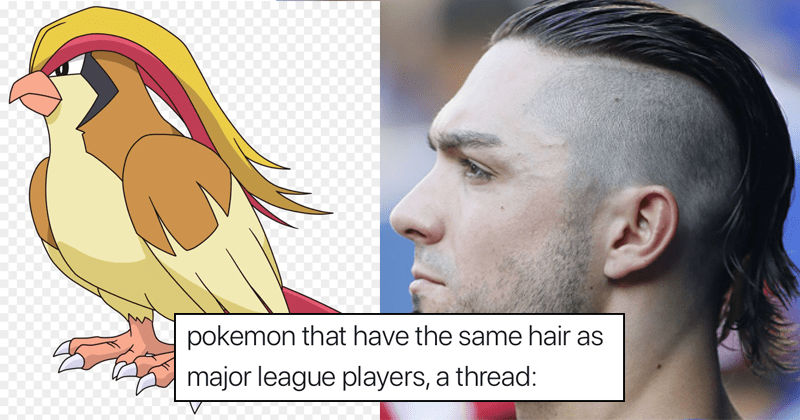 Funny tweets from Shanna Shi about pokemon that have the same hair as major league players