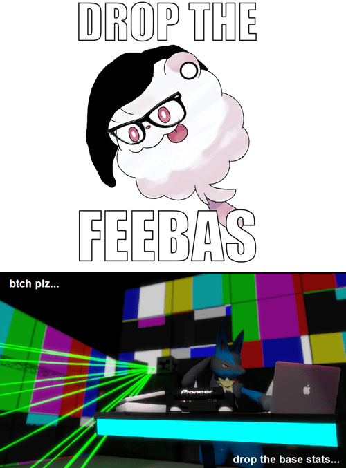 feebas,lucario,drop the bass