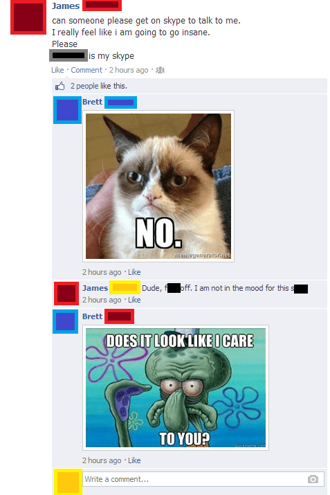 skype Grumpy Cat what are friends for friends