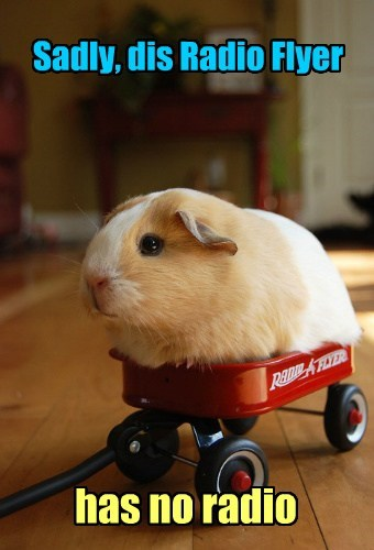 Sadly, dis Radio Flyer has no radio