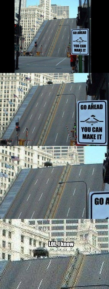 jump,cars,bridges,make it,funny