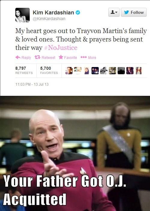twitter George Zimmerman Trayvon Martin kim kardashian celeb failbook