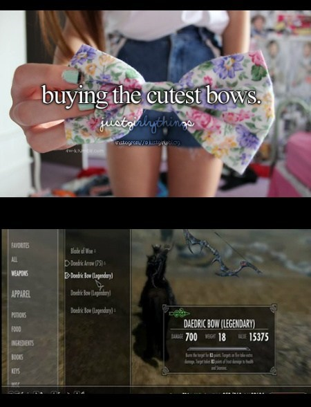 just girly things bows Skyrim funny - 7663162112