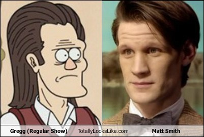 Matt Smith totally looks like doctor who gregg regular show funny - 7663575040