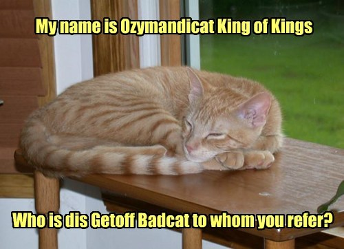 king down ozymandias funny - 7664240128