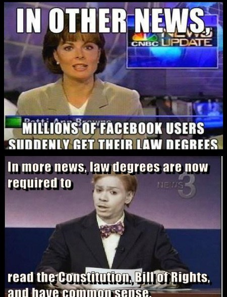 facebook idiots law degrees funny - 7664359424