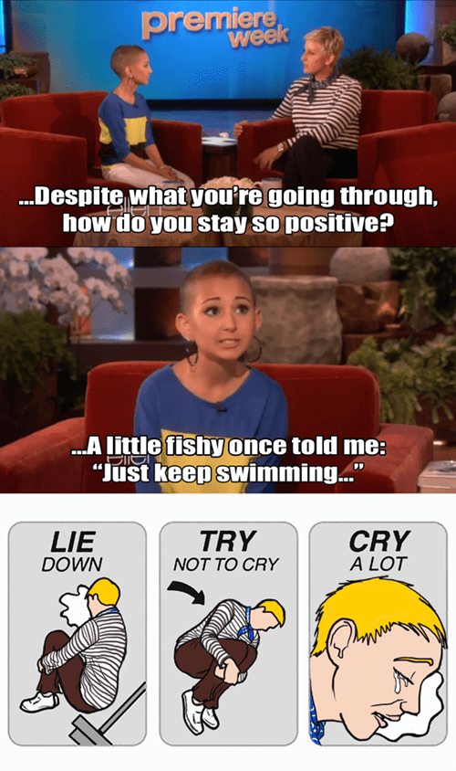 quotes,try not to cry,finding nemo,ellen degeneres