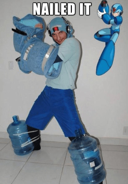 cosplay mega man Nailed It - 7664711424