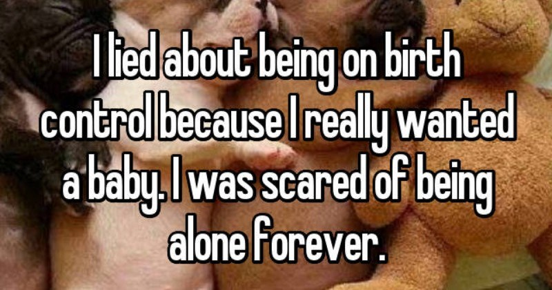 whisper confessions about why women lied about taking birth control