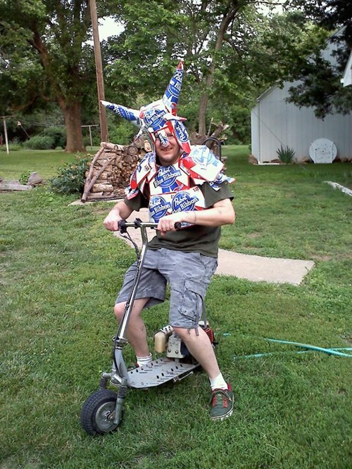 beer joust pbr armor funny - 7665659648