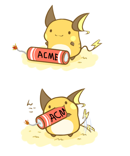 raichu,Pokémon,acme,bombchus