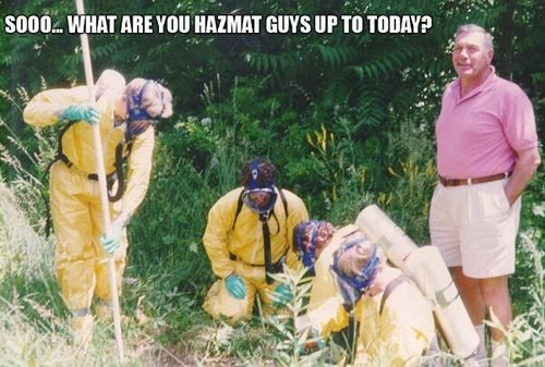 radiation danger hazmat suit