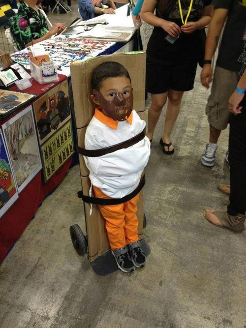 hannibal lecter,kids,kids costumes,inappropriate kids costumes,funny,g rated,parenting