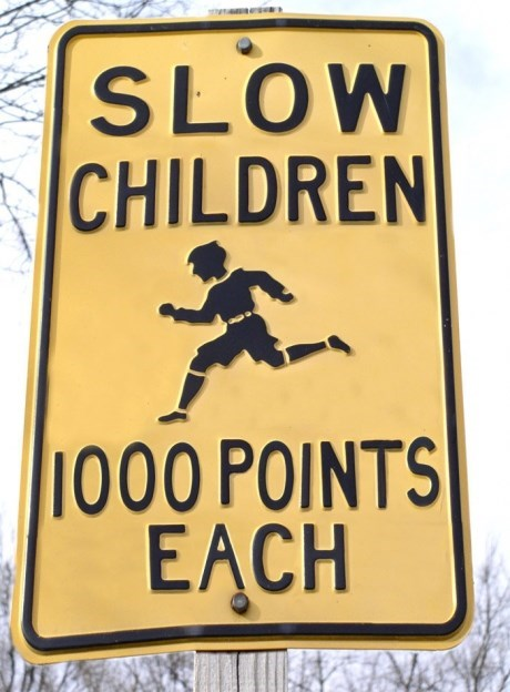 street signs kids neighborhoods funny - 7667077888