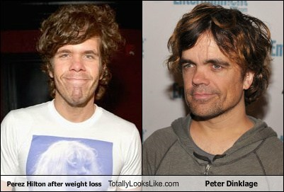 Perez Hilton after weight loss Totally Looks Like Peter Dinklage