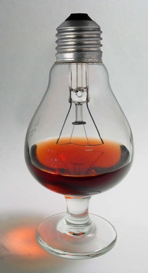 whiskey glass lightbulb funny - 7667256320