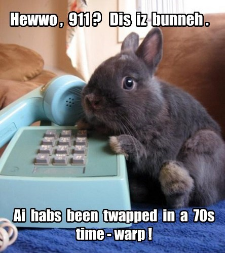 wires seventies time warp bunny funny - 7667355904