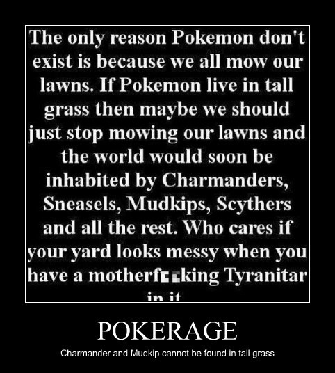 POKERAGE Charmander and Mudkip cannot be found in tall grass