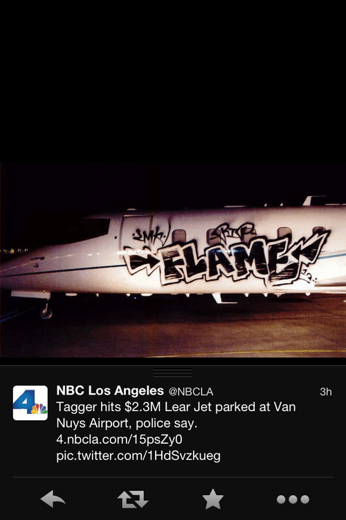 lear-jet planes graffiti The 99 Percent