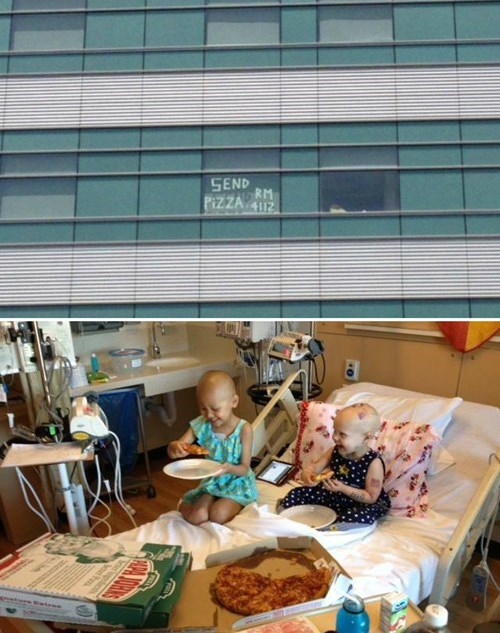 random act of kindness pizza uproxx hospital restoring faith in humanity week cancer g rated win - 7667697408