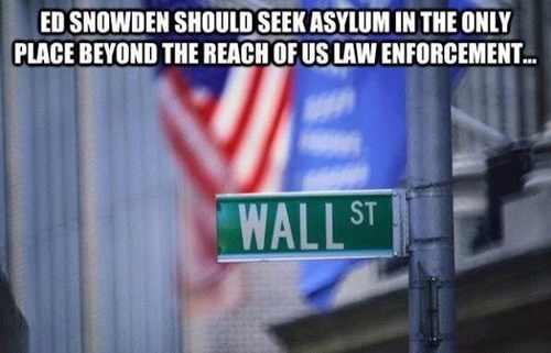 edward snowden,the government,Wall Street