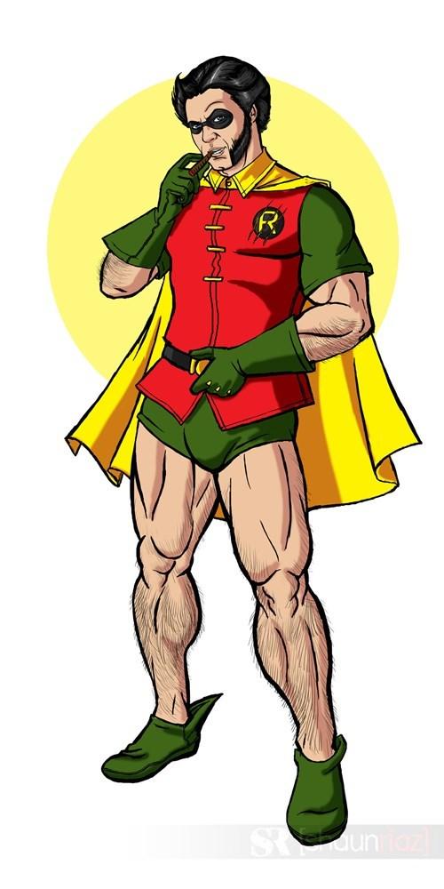crossover robin Fan Art wolverine - 7667776768