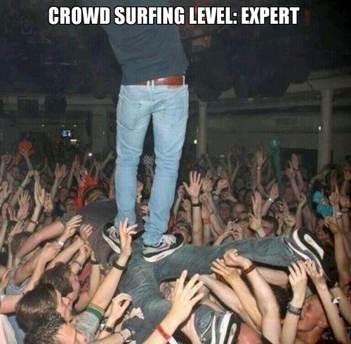 crowd surfing win experts Music g rated